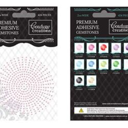 Premium Adhesive Gemstones - Pink Lace