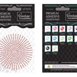 Premium Adhesive Gemstones - Maraschino