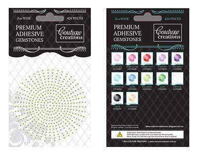 Premium Adhesive Gemstones - Celadon