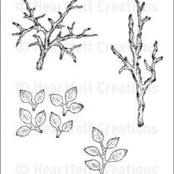 HC - Leafy Branch Cling Stamp Set