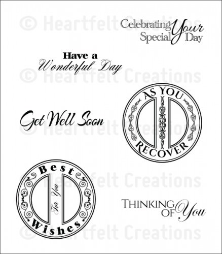 HC - Heartfelt Sentiment Cling Stamp Set